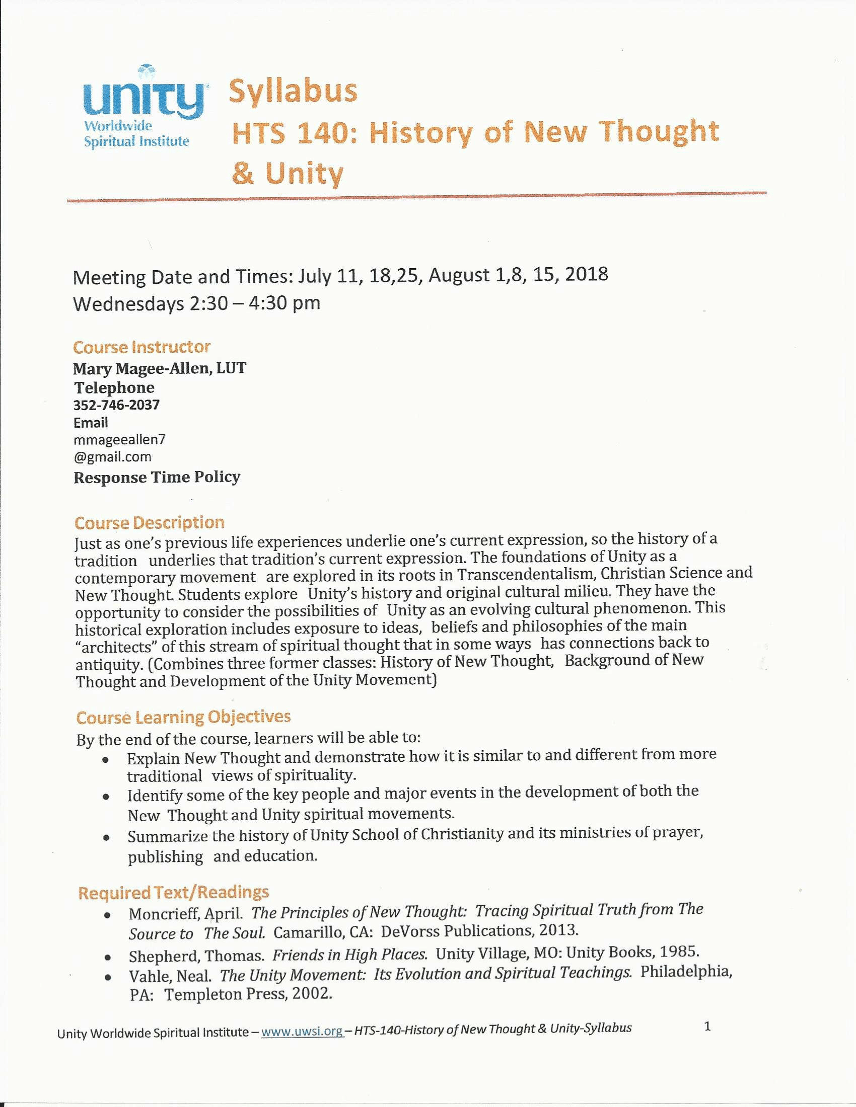 2018-07-11-History of New Thought | Unity of Citrus County